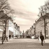 Rua da compra em Potsdam Imagens de Stock