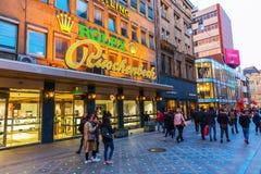 Rua da compra no centro da cidade de Dortmund, Alemanha Foto de Stock