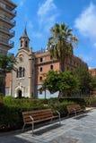 Rua da Espanha com bancos Fotos de Stock