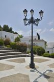 Rua da lâmpada no quadrado Fotografia de Stock Royalty Free
