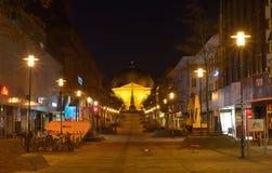 Rua da manhã em Darmstadt Imagem de Stock