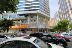 Rua da multidão da cidade de shenzhen imagens de stock