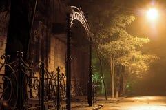 Rua da noite Imagens de Stock Royalty Free