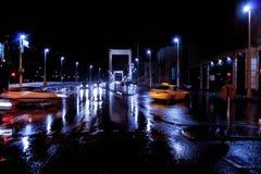 Rua da noite em Budapest Imagem de Stock