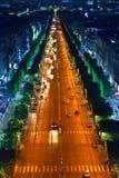Rua da noite. France. Paris. imagem de stock royalty free