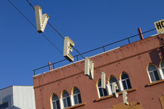 A rua da praia de Veneza assina dentro Califórnia Fotografia de Stock