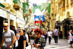 Rua da república, Valletta, Malta. Foto de Stock Royalty Free