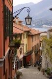 Rua da vila de Como do lago Foto de Stock