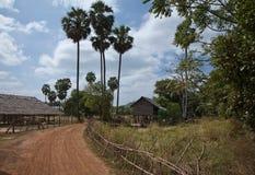Rua da vila em Camboja Imagens de Stock Royalty Free
