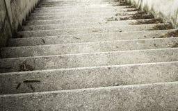 Rua das escadas do cimento Fotos de Stock