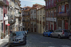 Rua das Taipas street in historical center of Porto, Portugal Royalty Free Stock Images