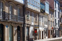 Rua de Σαν Φρανσίσκο - Σαντιάγο de Compostela Στοκ εικόνες με δικαίωμα ελεύθερης χρήσης
