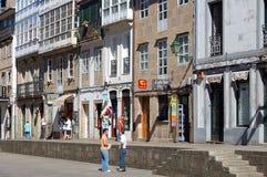 Rua de Σαν Φρανσίσκο - Σαντιάγο de Compostela Στοκ Εικόνες