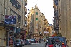 Rua de Alexandria, Egipto. Imagem de Stock