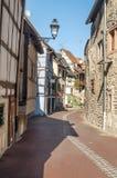 Rua de Alsácia com flores Fotos de Stock