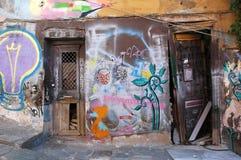 Rua de Atene Fotos de Stock Royalty Free