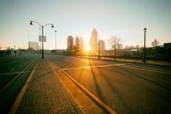 Rua de Atlanta da foto do estilo do vintage fotos de stock royalty free