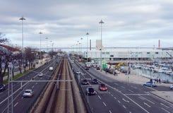 Rua de Avenida Brasília de Belém Imagem de Stock