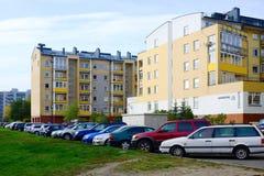 Rua de Baltrusaicio em Vilnius no tempo da tarde Fotografia de Stock Royalty Free