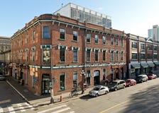 Rua de Broughton, Victoria, BC, Canadá imagens de stock royalty free