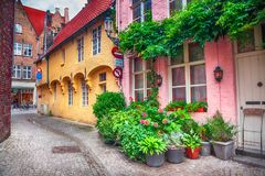 Rua de Bruges, Bélgica Fotografia de Stock Royalty Free