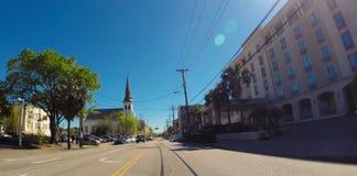 Rua de Calhoun pela mãe Emanuel Church Imagens de Stock