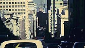 Rua de Califórnia do teleférico do vintage filme
