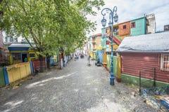 Rua de Caminito em Buenos Aires, Argentina Fotografia de Stock