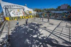 Rua de Caminito em Buenos Aires, Argentina Fotos de Stock
