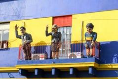 Rua de Caminito, La Boca - Buenos Aires, Argentina Imagem de Stock