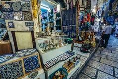 Rua de Cardo no Jerusalém Foto de Stock Royalty Free