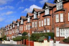 Rua de casas terraced imagem de stock royalty free
