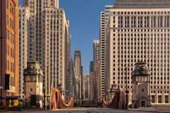 Rua de Chicago. fotografia de stock royalty free