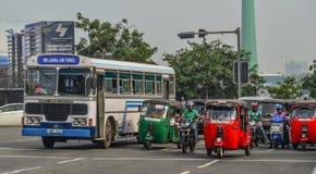 Rua de Colombo, Sri Lanka foto de stock