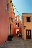 Rua de Corfu imagem de stock
