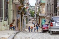 Rua de Cuarteles, Havana, Cuba Fotos de Stock Royalty Free