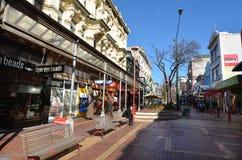 Rua de Cuba em Wellington New Zealand fotografia de stock royalty free