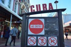 Rua de Cuba em Wellington New Zealand imagens de stock royalty free