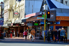 Rua de Cuba em Wellington New Zealand Foto de Stock