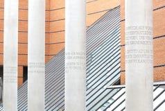 Rua de direitos humanos em Nuremberg, Alemanha Fotografia de Stock