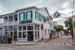 Rua de Duval em Key West, Florida Fotografia de Stock