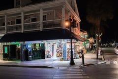 Rua de Duval em Key West, Florida Imagem de Stock