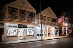 Rua de Duval em Key West, Florida Imagem de Stock Royalty Free