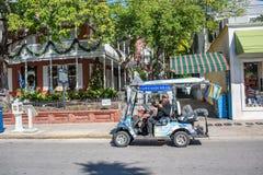 Rua de Duval em Key West, Florida Fotografia de Stock Royalty Free