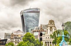 Rua de 20 Fenchurch, aka torre do Walkietalkie, Londres Fotografia de Stock Royalty Free