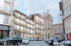 A rua de Flores em Porto Fotos de Stock