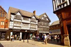 Rua de Foregate em Chester fotos de stock