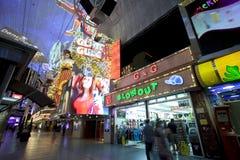 Rua de Fremont - Las Vegas, Nevada Imagem de Stock Royalty Free