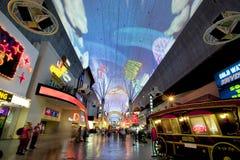 Rua de Fremont - Las Vegas, Nevada Imagem de Stock