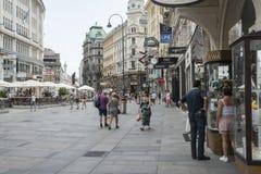 Rua de Graben em Viena Fotos de Stock Royalty Free